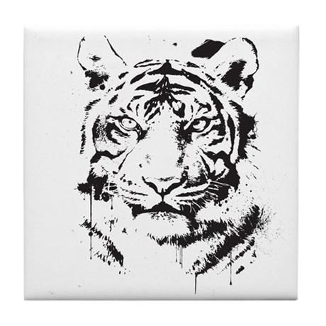 Tiger's Glare Tile Coaster