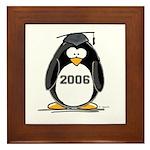 2006 Graduate penguin Framed Tile