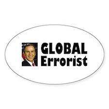 Global Errorist Oval Decal