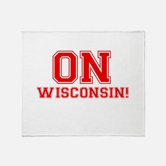 On Wisconsin Throw Blanket