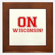 On Wisconsin Framed Tile
