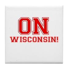 On Wisconsin Tile Coaster
