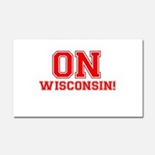 On Wisconsin Car Magnet 20 x 12