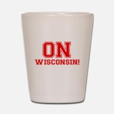 On Wisconsin Shot Glass