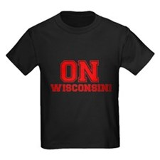 On Wisconsin Kids Dark T-Shirt
