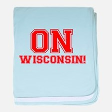 On Wisconsin baby blanket