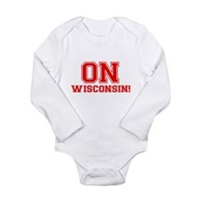 On Wisconsin Long Sleeve Infant Bodysuit