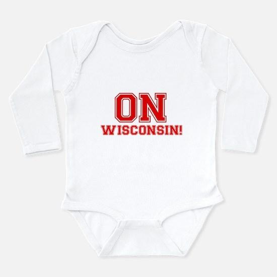 On Wisconsin Long Sleeve Infant Bodysuit