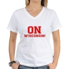 On Wisconsin Women's V-Neck T-Shirt