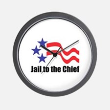 Jail to the Chief Wall Clock