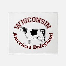 America's Dairyland Throw Blanket
