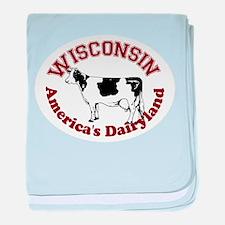 America's Dairyland baby blanket