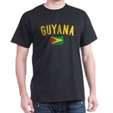 Guyana Black T-Shirt