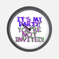 It's My Party! Wall Clock