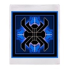 Naumaddic Arts Logo - Blue - Throw Blanket
