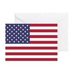 United States Flag Greeting Cards (Pk of 20)