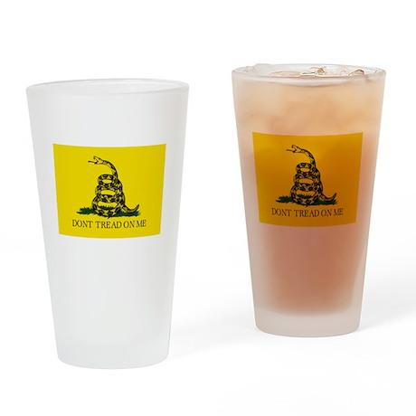 Gadsden - Don't Tread Flag Drinking Glass