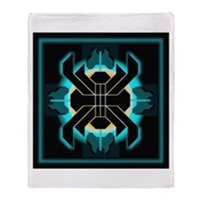 Naumaddic Arts Logo - Dk Teal - Throw Blanket