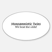 Monoamniotic Twins Oval Decal