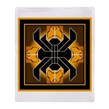 Naumaddic Arts Logo - Yellow - Throw Blanket