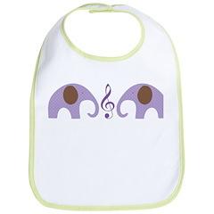 Elephant Baby Music Bib