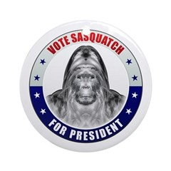 Sasquatch For President Ornament (Round)