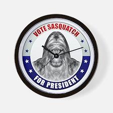 Sasquatch For President Wall Clock