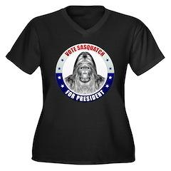 Sasquatch For President Women's Plus Size V-Neck D
