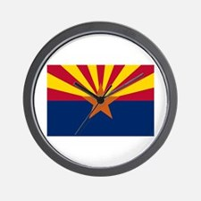 Arizona State Flag Wall Clock