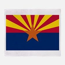 Arizona State Flag Throw Blanket