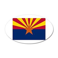 Arizona State Flag 22x14 Oval Wall Peel