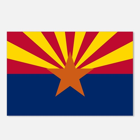 Arizona State Flag Postcards (Package of 8)