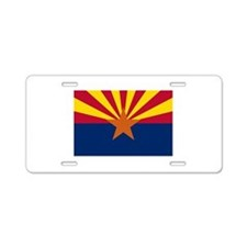 Arizona State Flag Aluminum License Plate