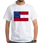 Georgia State Flag White T-Shirt