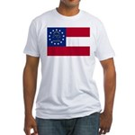 Georgia State Flag Fitted T-Shirt