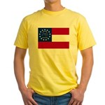 Georgia State Flag Yellow T-Shirt