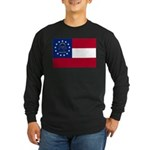 Georgia State Flag Long Sleeve Dark T-Shirt
