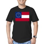 Georgia State Flag Men's Fitted T-Shirt (dark)