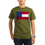 Georgia State Flag Organic Men's T-Shirt (dark)
