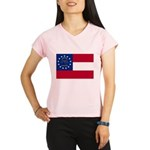Georgia State Flag Performance Dry T-Shirt