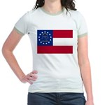 Georgia State Flag Jr. Ringer T-Shirt