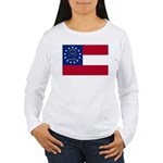 Georgia State Flag Women's Long Sleeve T-Shirt