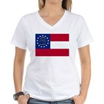 Georgia State Flag Women's V-Neck T-Shirt