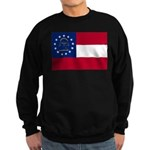 Georgia State Flag Sweatshirt (dark)