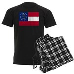 Georgia State Flag Men's Dark Pajamas