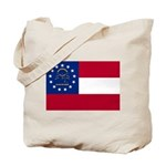 Georgia State Flag Tote Bag