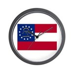 Georgia State Flag Wall Clock