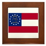 Georgia State Flag Framed Tile