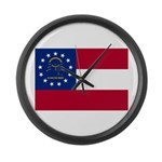 Georgia State Flag Large Wall Clock