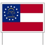 Georgia State Flag Yard Sign